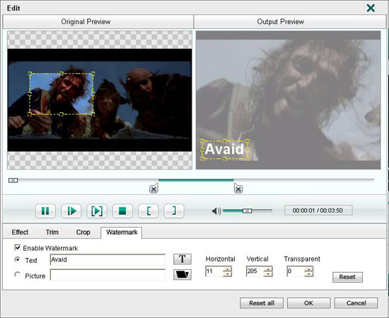 How to rip DVD to iPod MP4 format Watermark